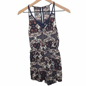 Abercrombie & Fitch Patterned Sleeveless Romper